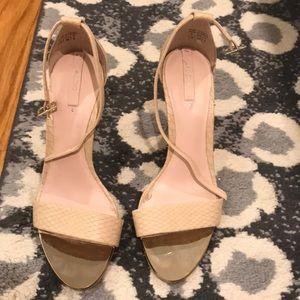 Aldo nude strappy heels 7.5
